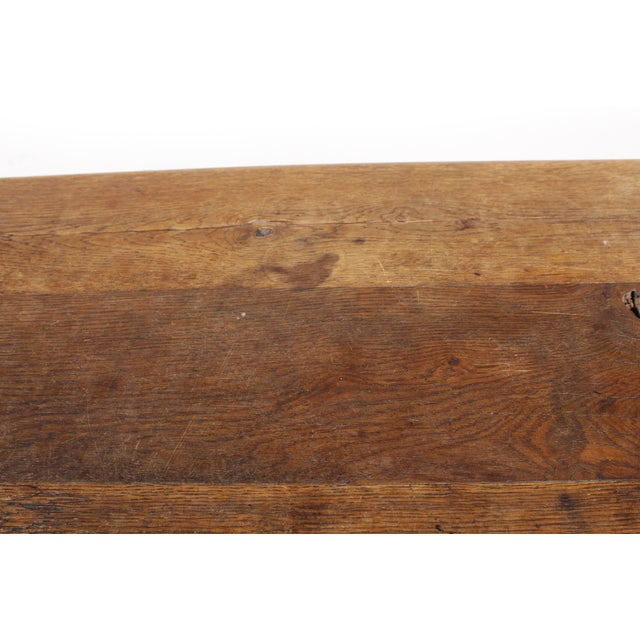 Antique Monestary-Style Oak Coffee Table - Image 7 of 9