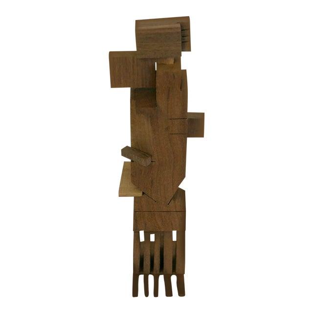 Los Angeles Artist Behzad Haghiri's Hand Made Walnut Sculpture For Sale