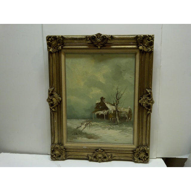 """This is an Original Painting on Canvas -- Titled """"Frontier Home"""" -- By W. Smith -- Circa 1980 -- The Painting is Framed In..."""