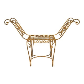 French Art Moderne Lyre Window Bench For Sale