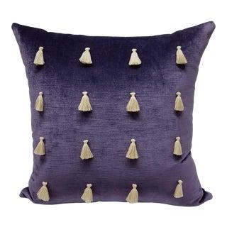 Velvet Tassel Pillow For Sale
