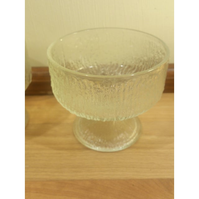 Indiana Glass Ice Design Footed Ice Cream Dishes - Set of 4 - Image 4 of 5