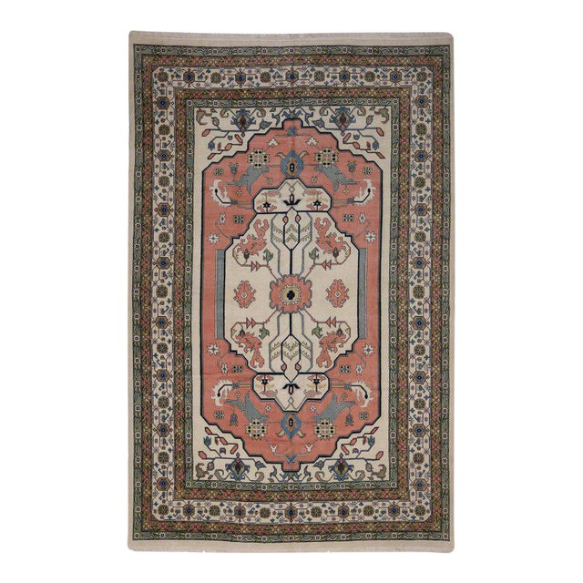 Modern Chinese Art Deco Style Gallery Rug in Light Colors For Sale