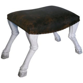 Claw Leg Saddle Stool For Sale