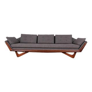 1960s Adrian Pearsall for Craft Associates Mid-Century Modern Gondola Sofa on Boomerang Leg For Sale