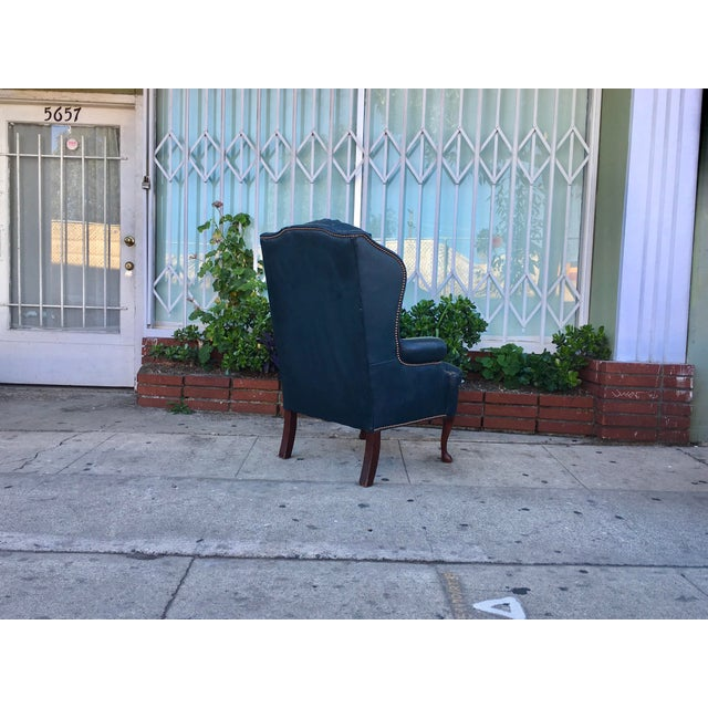 Vintage Tufted Leather Chairs - A Pair - Image 7 of 7