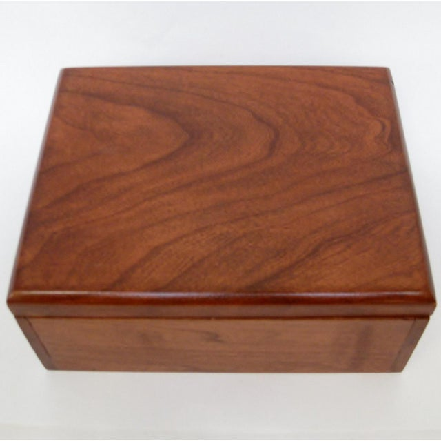 Contemporary Cedar Storage Box For Sale - Image 3 of 6