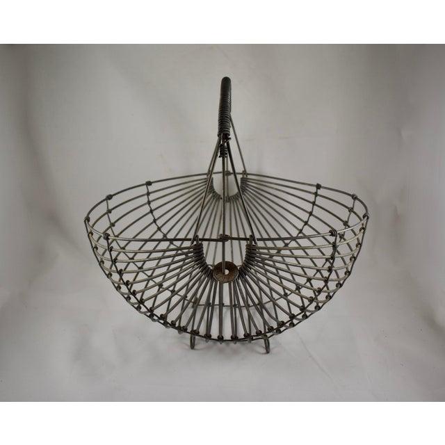 1970s Karl Howard Galvanized Steel Handmade Art Basket, Signed For Sale - Image 13 of 13