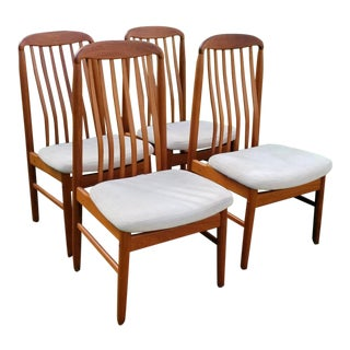 Benny Linden Teak Dining Chairs - Set of 4 For Sale