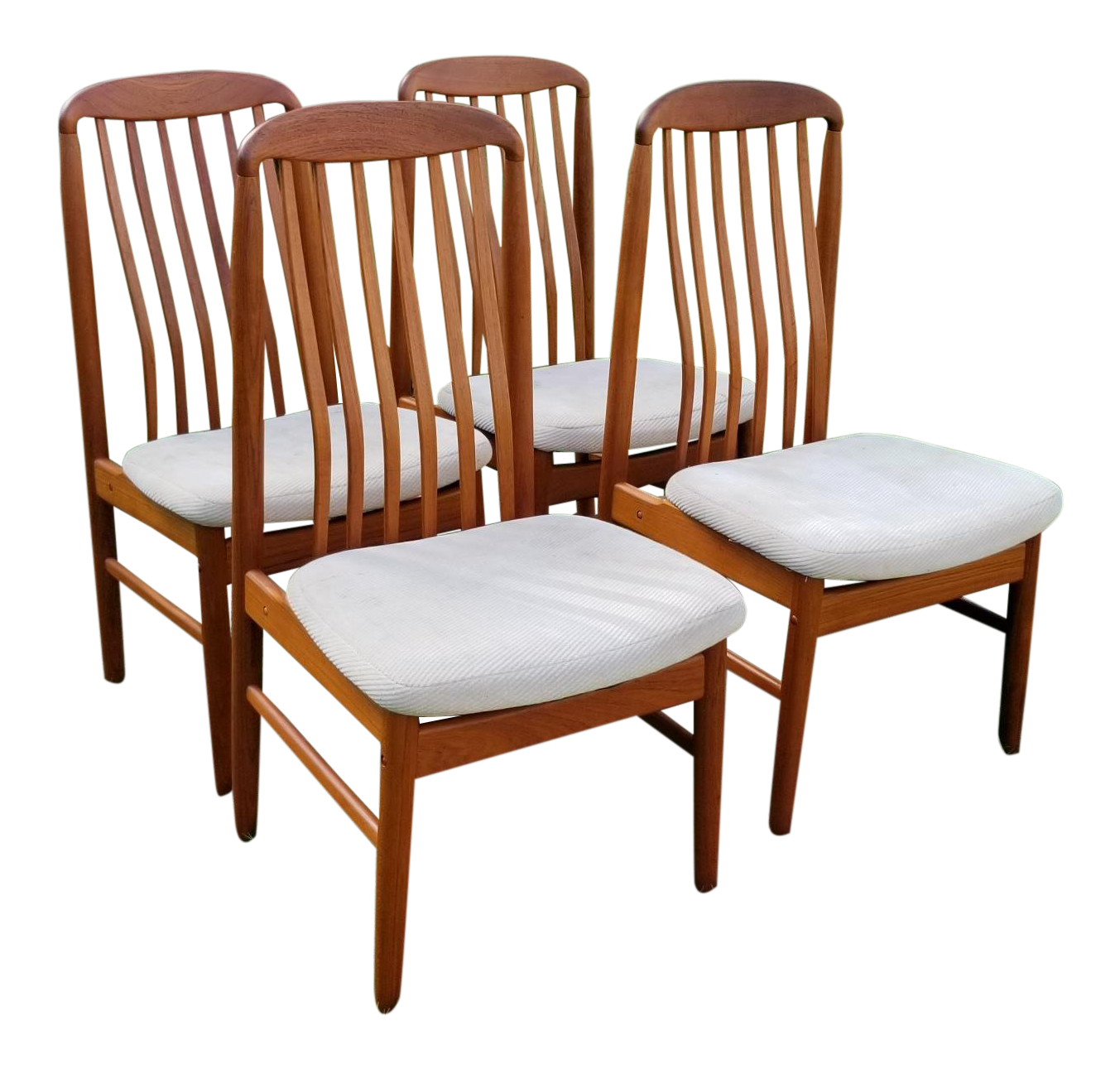 Benny Linden Teak Dining Chairs   Set Of 4 For Sale