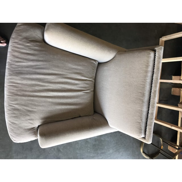Baker Furniture Company Modern Baker Yves Lounge Chair For Sale - Image 4 of 10