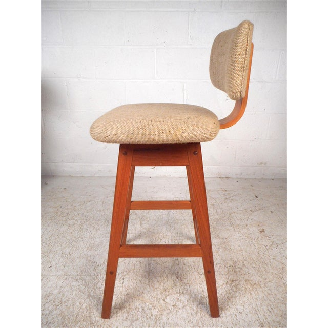 Danish Modern Danish Modern Upholstered Swivel Stools by Vampdrup Stolefabrik, Set of 3 For Sale - Image 3 of 13