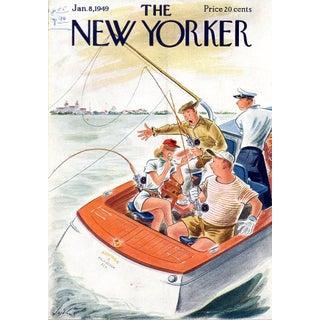 Vintage 1949 New Yorker Cover, January 8 (Constantin Alajalov), Sports, Fishing For Sale