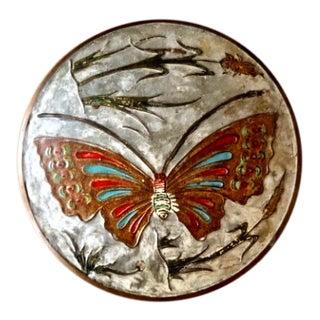 Mid-Century Brass Butterfly Trinket Box For Sale