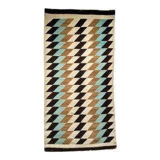 Vintage Navajo Eye Dazzler Rug- 2′7″ × 5′ For Sale