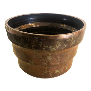 1980s Designer Metallic Glaze Planter Pot by Gary McCloy for Steve Chase For Sale