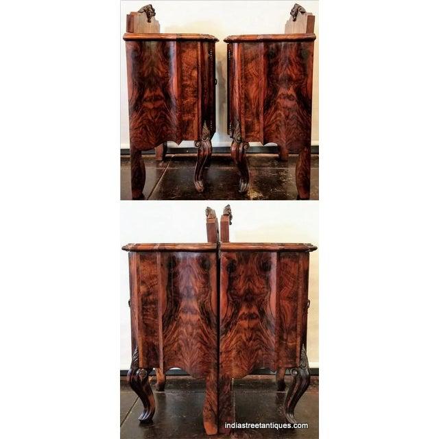 Antique Italian Olive Wood Neo-Rococo Venetian Baroque Six Piece Bedroom Suite For Sale In San Diego - Image 6 of 13