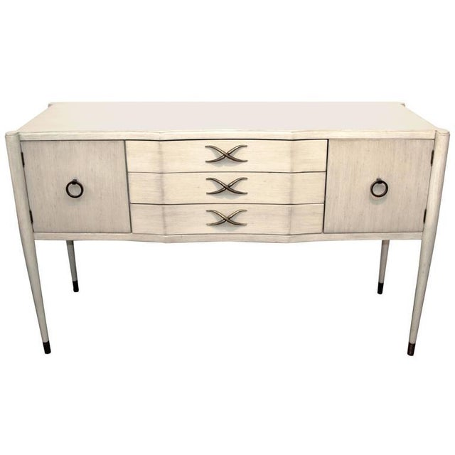 Paul Frankl for Brown Saltman Credenza in White Wash Finish For Sale - Image 11 of 11