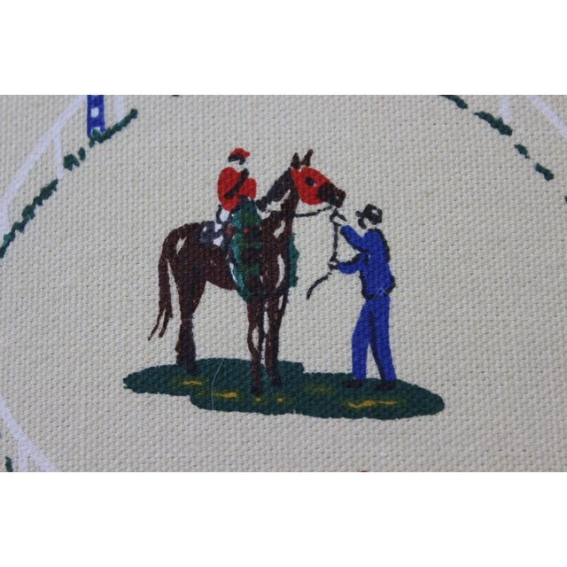 Pair of Race Track Canvas Pillows For Sale - Image 4 of 8