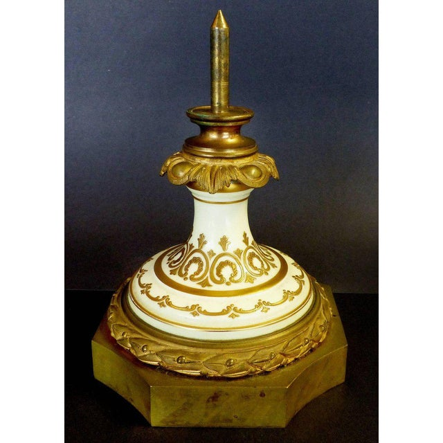 19th Century Hand-Painted Sevres Covered Urn Mounted in Gilt Bronze, Signed For Sale In Miami - Image 6 of 11