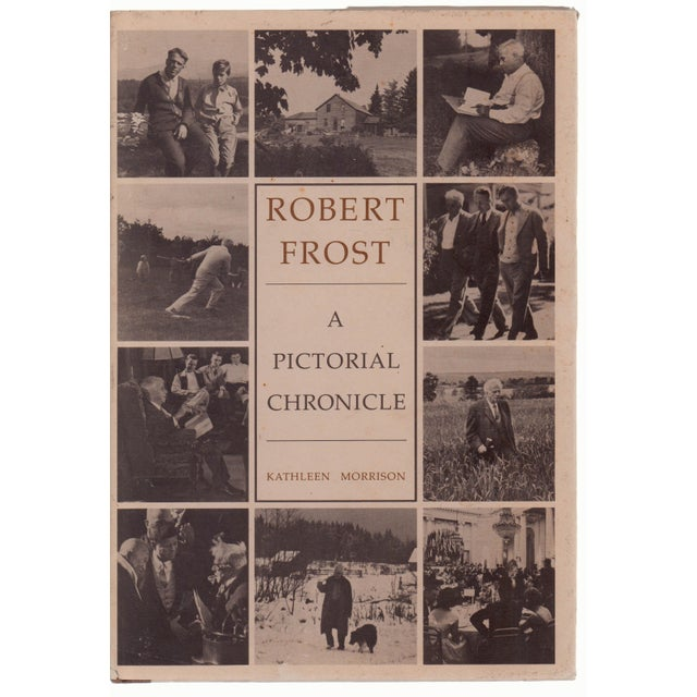 Paper Vintage Robert Frost A Pictorial Chronicle Hardcover Book For Sale - Image 7 of 7