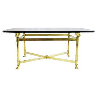 Regency Style Brass Coffee Table For Sale