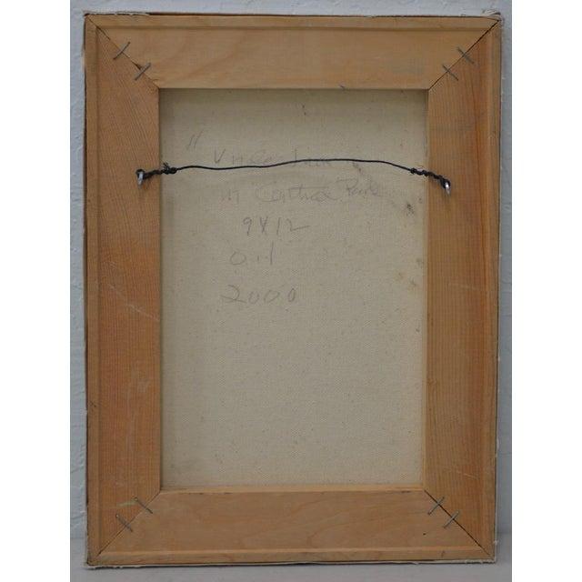 "Figurative Arthur J. Krakower ""Uncle Jack, Central Park"" Original Oil on Canvas c.2000 For Sale - Image 3 of 4"
