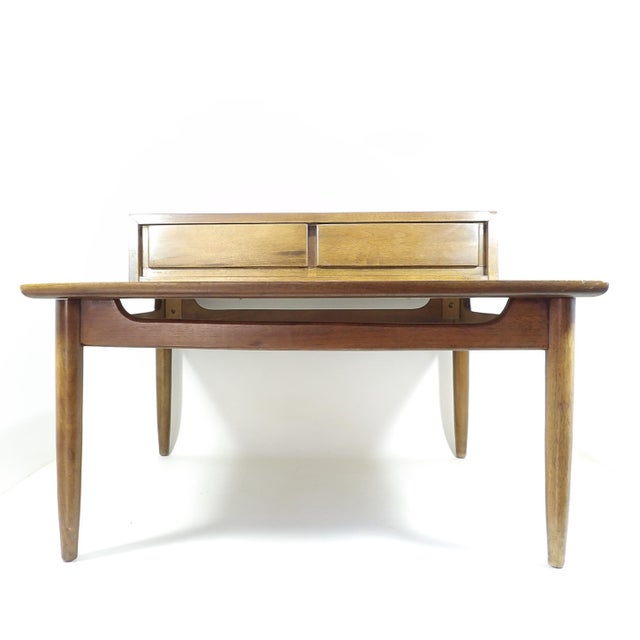 American of Martinsville 1950s Mid Century Modern American of Martinsville Sectional Sofa Divider Table For Sale - Image 4 of 12