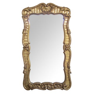 Well-Carved & Good Quality English George II Baroque Style Giltwood Mirror For Sale