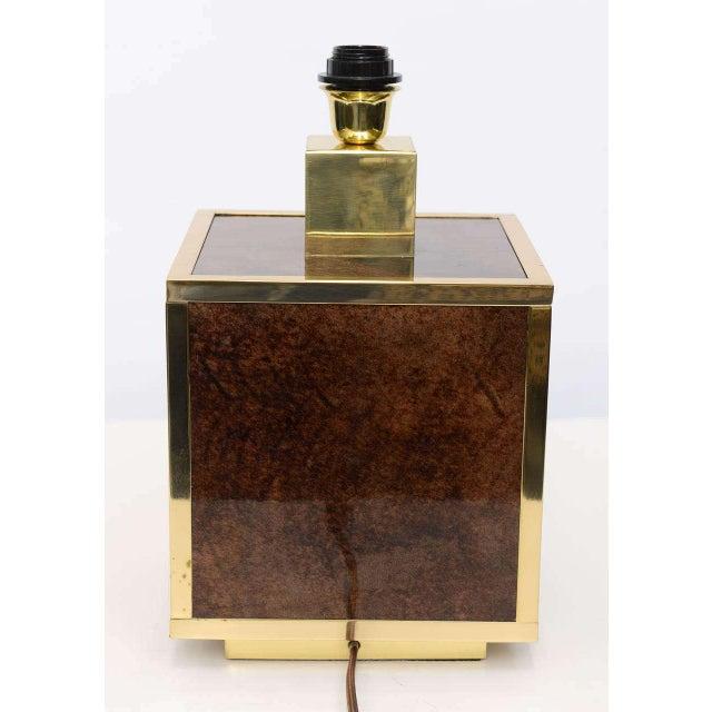 Aldo Tura Goatskin and Brass Table Lamp - Image 4 of 10