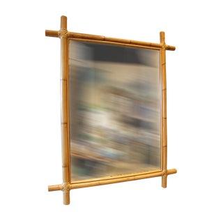 Large Rectangular Bamboo Mirror For Sale