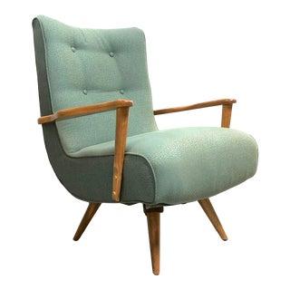 Mid Century Modern Swivel Rocker Lounge Chair For Sale
