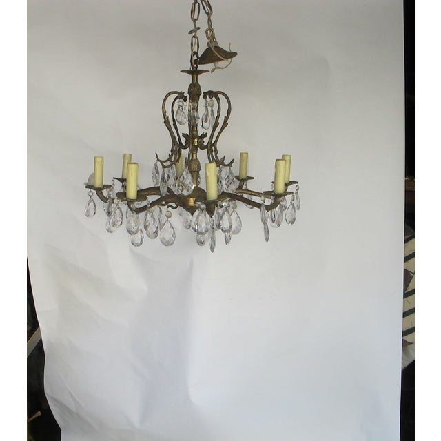 1950's Hollywood Regency Crystal Chandelier - Image 2 of 6