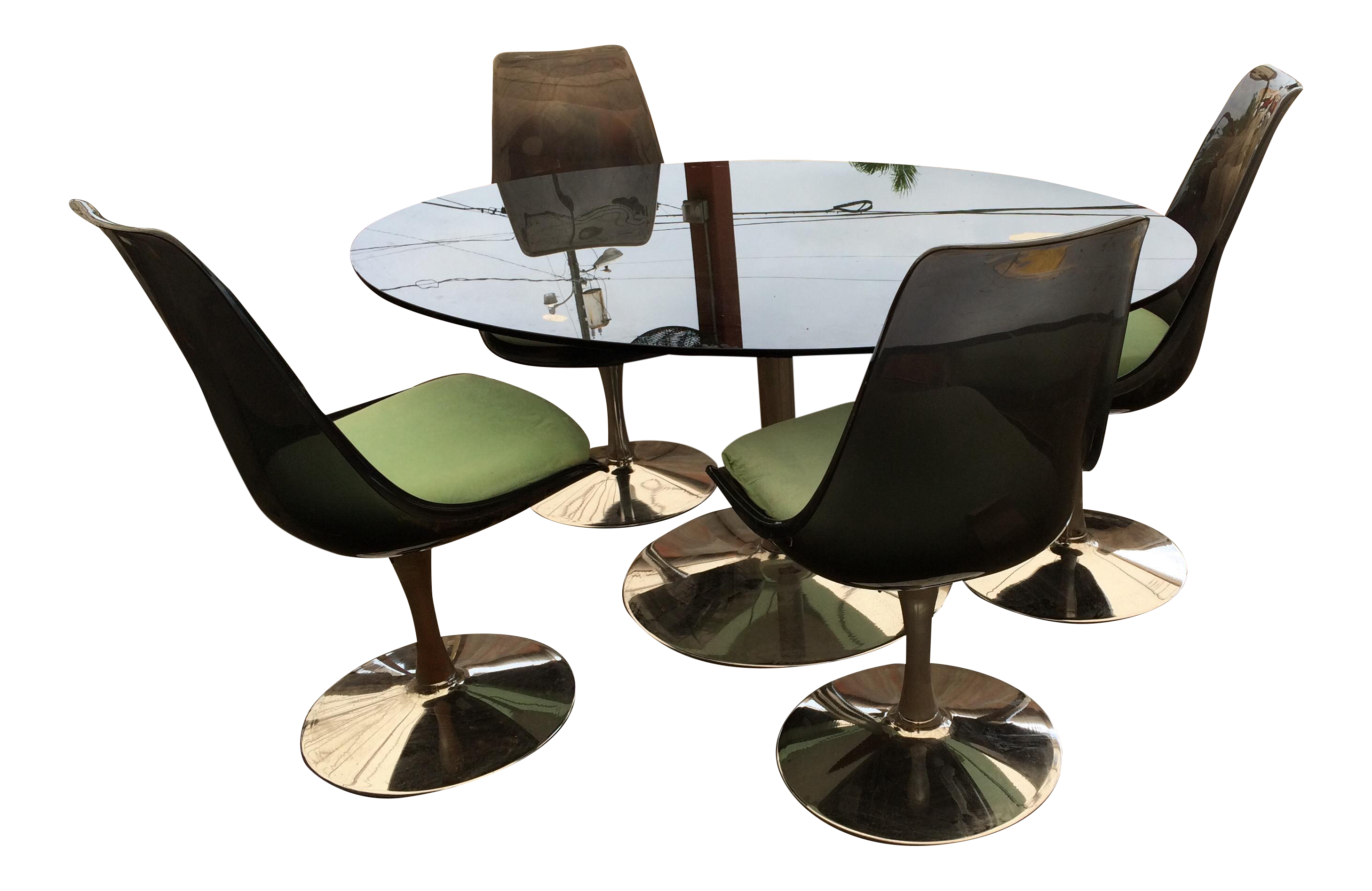 Merveilleux Mid Century Modern Lucite Dining Chairs Knoll Style Chairs Only