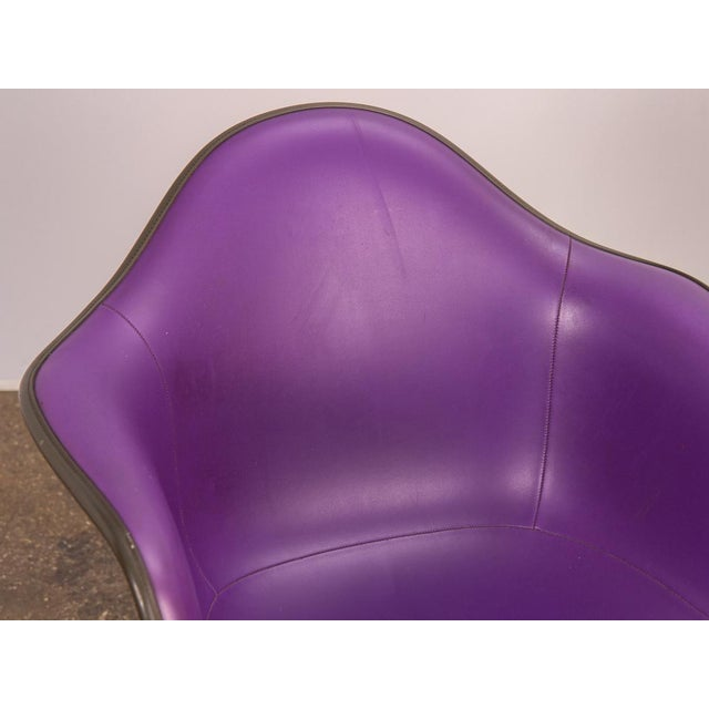 1960s Purple Eames Padded Armshell Chair on Black Eiffel Base for Herman Miller For Sale - Image 5 of 9