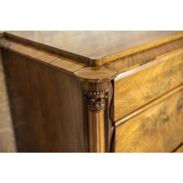 Mid 19th Century 19th-Century Louis Philippe Dresser Veneered with Mahogany For Sale - Image 5 of 11
