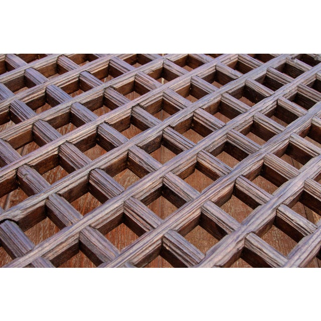 Rustic Chinese Lattice Panels Set of 2 For Sale - Image 4 of 7