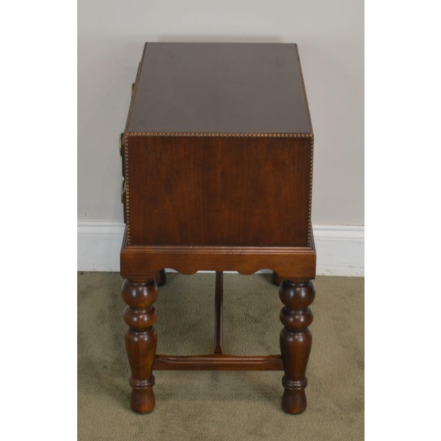 Sherrill Occasional Small Cherry One Drawer Side Table For Sale In Philadelphia - Image 6 of 12