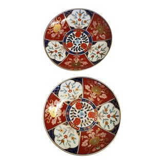 Late 19th Century Matching Imari Plates - a Pair For Sale