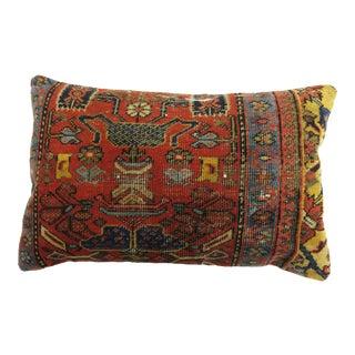 Floor Size Rust Color Antique Rug Pillow For Sale