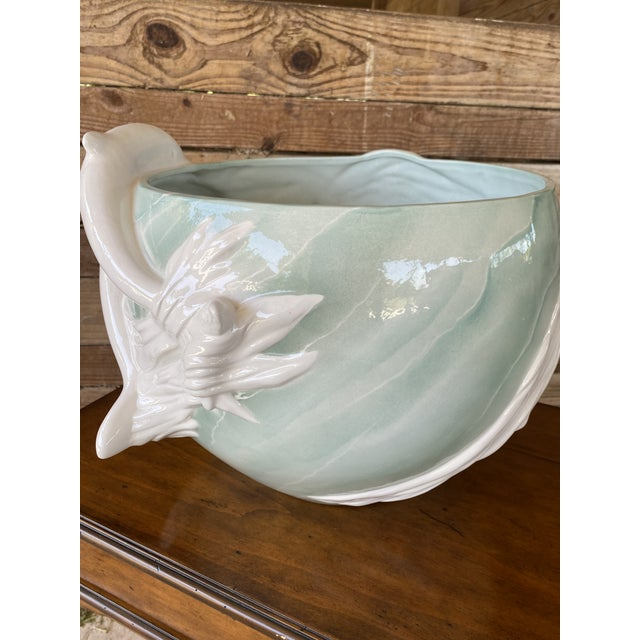 1970s 1970s Sculptural Italian Dolphin Ceramic Bowl For Sale - Image 5 of 12