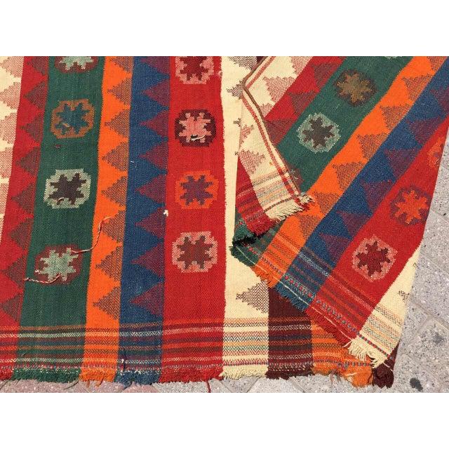 Colorful Vintage Kilim Rug For Sale - Image 9 of 10