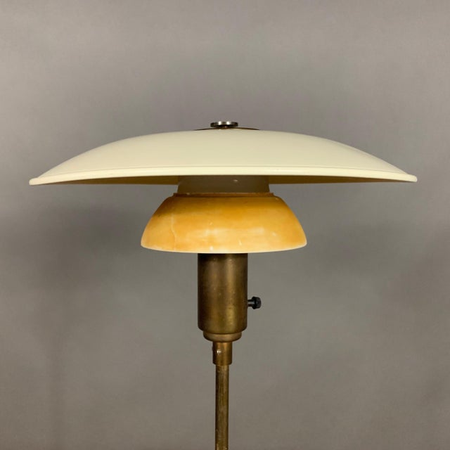 Brass 1930s Lyfa of Denmark Table Lamp, Glass, Brass & Lacquered Metal For Sale - Image 7 of 10