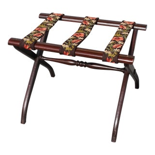 Mid-Century Modern Flowered Luggage Rack For Sale
