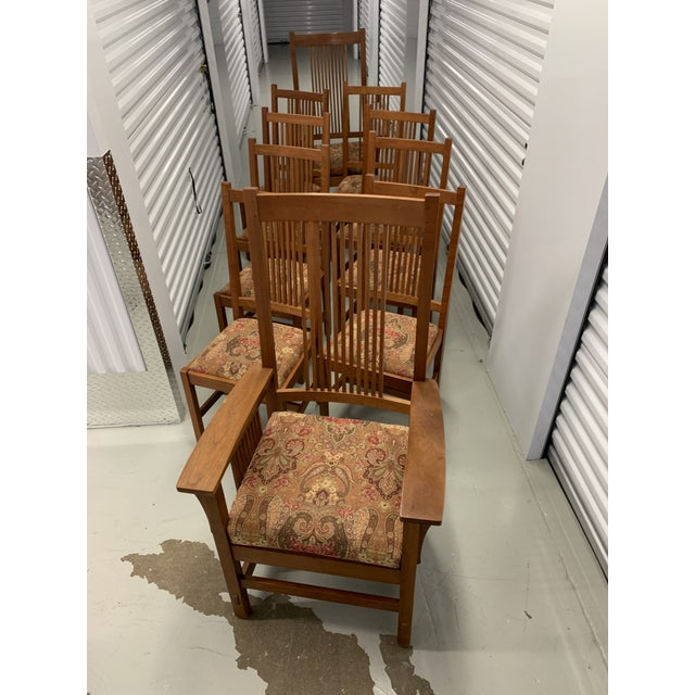 Stickley Spindle Arm Chair and Dining Chairs- Set of 10 For Sale - Image 10 of 13