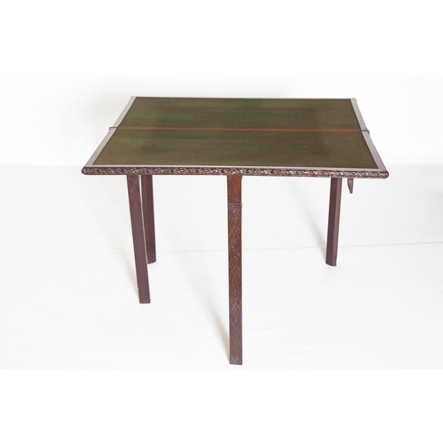 Mid-18th Century Early George III Mahogany Card Table For Sale - Image 4 of 13