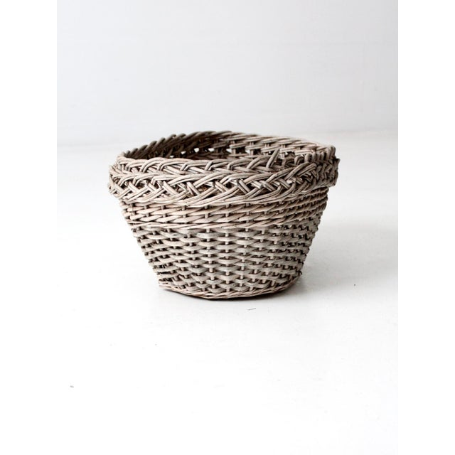 Early 20th Century Antique Wicker Basket For Sale - Image 5 of 12