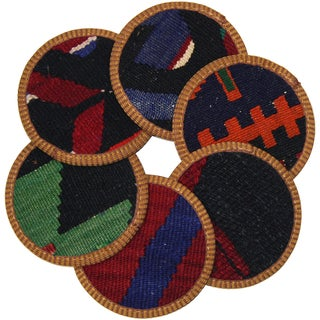 Rug & Relic Kilim Coasters, Alanya - 6 For Sale