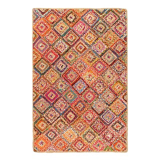 Pasargad Handmade Braided Cotton & Organic Jute Rug - 2' X 3' For Sale
