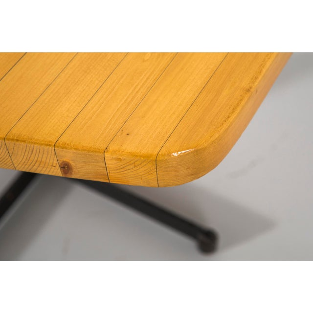 Charlotte Perriand Les Arcs Pentagonal Table by Charlotte Perriand For Sale - Image 4 of 9